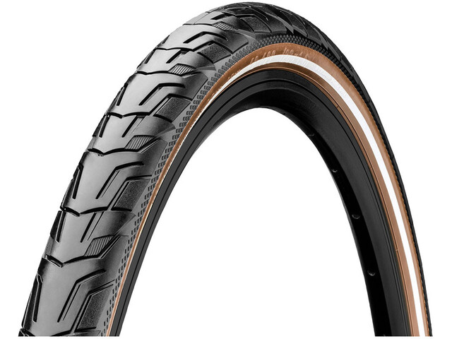 "Continental Ride City Wired Tyre 28x1.75"" Reflex E-25, black/brown"